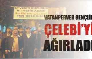 Vatanperver' Gençlik'ten Pankartlı Karşılama