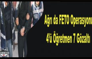 Ağrı da FETO Operasyonu