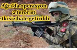 Ağrı da Terör Operasyonu