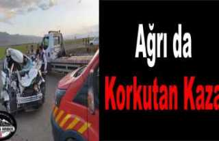 Ağrıda Trafik Kazası 4 Yaralı