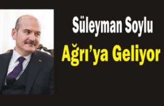 İçişleri Bakanı Süleyman Soylu Ağrı'ya...