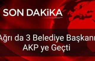 Ağrı da 1 İlçe 2 Belde Belediye Başkanı AKP...