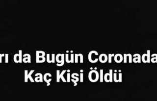 Ağrı da Bugün Covid-19 dan Kaç Kişi Öldü