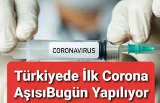 Türkiye de Corona Aşısı Yapılmaya Başlandı