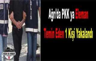 Ağrı da PKK'ya Eleman Temin Eden Kişi Yakalandı