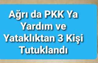 Ağrı da PKK'ya Yardım ve Yataklık'tan...