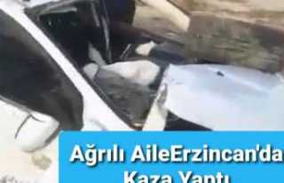 Ağrılı Aile Erzincan'da Kaza Yaptı