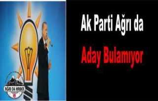AK Parti Ağrı da Aday Bulamıyor