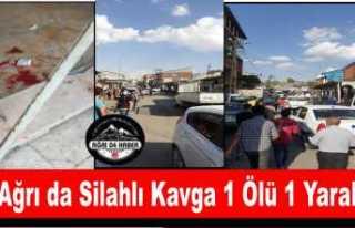 Patnos'ta Silahlı Kavga 1 Ölü,1 Yaralı