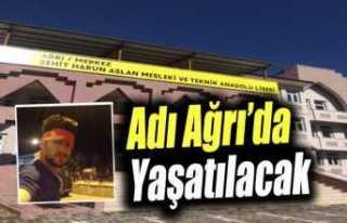 Şehit Harun Aslan'ın Adı Ağrı'da Ölümsüzleştirildi