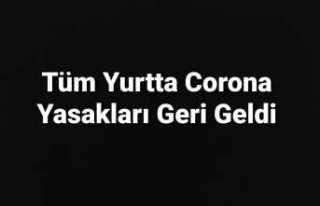 Türkiye de Sokağa Çıkma Kısıtlandı ,Okullar...