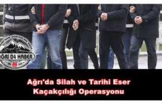 Ağrı'da Tarihi Eser ve Silah Kaçakçılığı...