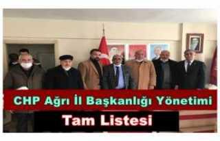 CHP Ağrı İl Başkanı Aslan Yönetimini Açıkladı