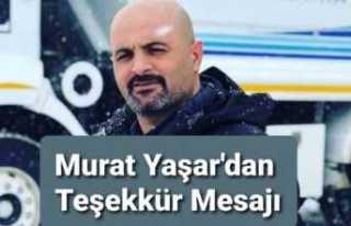 Murat Yaşar'dan Teşekkür Mesajı