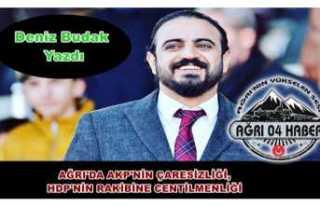 AĞRI'DA AKP'NİN ÇARESİZLİĞİ, HDP'NİN...