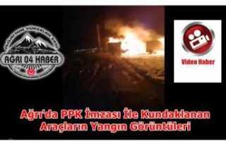 Ağrı'da 2 Araç PKK Tarafından Yakıldı