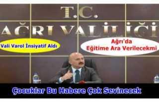 Ağrı Valisi Osman Varol İnsiyatif Aldı
