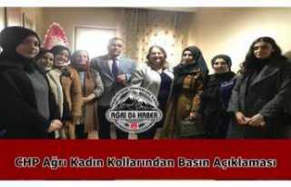 CHP Kadın Kolları Ağrı İl Başkanlığından...