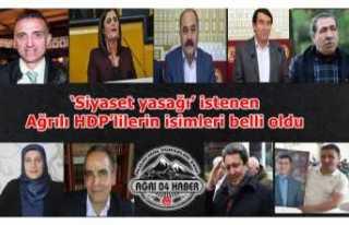 Siyaset yasağı getirilmesi istenen Ağrılı HDPliler...