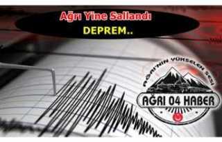 Son Dakika..Ağrı'da Deprem Oldu