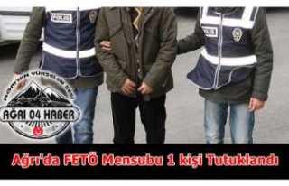 Ağrı'da FETÖ Mensubu 1 Kişi Tutuklandı