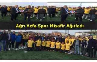 Ağrı Vefa Spor ASKF'yi Misafir Etti