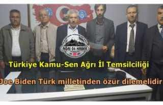 Erhan Kılıç; Joe Biden Türk milletinden özür...