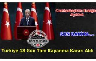 Türkiye Tam Kapanmaya Kararı Aldı