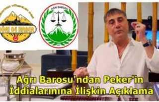 Ağrı Barosu Sedat Peker'in İddialarına İlişkin...