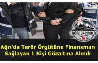 Ağrı'da Terörü Finanse Etmekten 1 Kişi Gözaltına...
