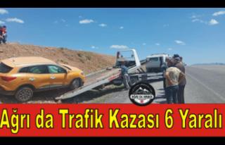 Ağrı'da Trafik Kazası ''6 Yaralı''