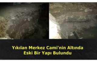 Ağrı Merkez Camisinin Altında Tarihi Bir Yapı...