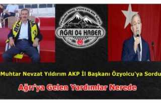 Ağrılı Muhtarlar Özyolcu'ya Soruyor 6000...