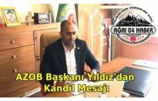 AZOB Başkanı Ömer Yıldız'dan Kutlama Mesajı