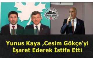 Gelecek Partisi Ağrı İl Başkanı Yunus Kaya İstifa...