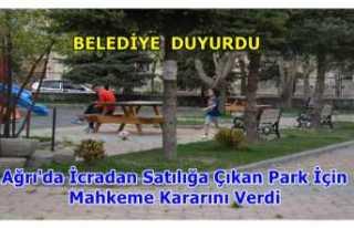 Mahkeme Patnos-Osmanlı Parkı İçin Kararını Verdi