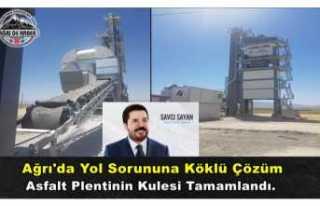 Ağrı'da Asfalt Plentinin Kulesi Yükseldi Üretim...
