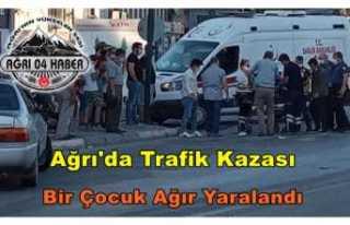 Ağrı'da Trafik Kazası Bir Yaralı