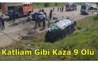 Katliam Gibi Kaza 9 Ölü