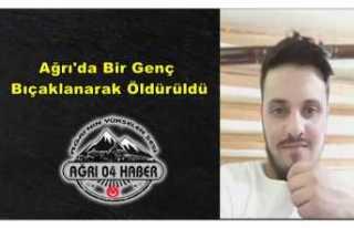 Ağrı'da Bir Kişi Bıçaklanarak Öldürüldü