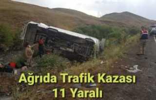 Ağrı'da Trafik Kazası 11 Yaralı