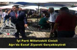 İyi Partili Vekil Ağrı'da Esnafı Ziyaret...
