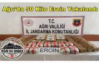 Ağrı'da 50 Kilo Eroin Yakalandı