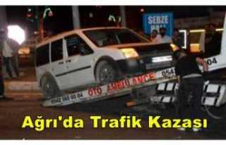 Ağrı'da Kaza 2 Yaralı