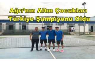 Ağrı'ya Türkiye Şampiyonu Olarak Döndüler