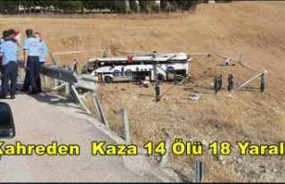 Balıkesirde Kahreden Kaza 14 Ölü