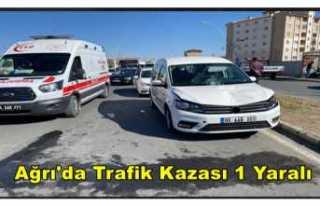 Ağrı'da Trafik Kazası 1 Kadın Yaralandı