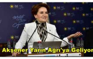 Meral Akşener Yarın Ağrı'ya Geliyor