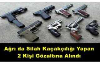 Ağrı da Silah Kaçakçısı 2 Kişi Yakalandı