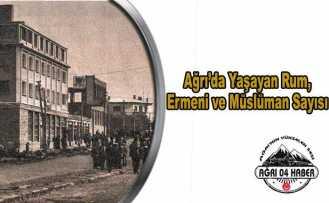 Ağrı'da Yaşayan Rum, Ermeni ve Müslüman Sayısı